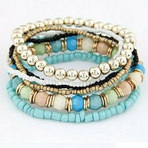Jewelry - NWT Stackable Turquoise Bracelets